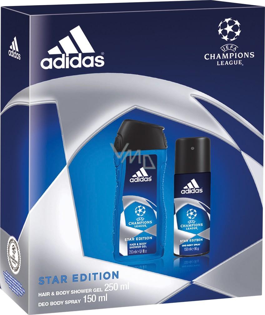 Coherente Competencia Escupir  Adidas UEFA Champions League Star Edition II deodorant spray 150 ml +  shower gel 250 ml for men - VMD parfumerie - drogerie