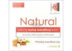HB Natural Mandlový výživný noční krém s vitamínem A 50 ml