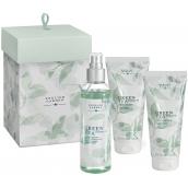Atkinsons English Garden Green Tea & Cherry Oil tělová voda pro ženy 100 ml + tělové mléko 75 ml + sprchové gely 75 ml, kosmetická sada