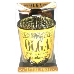 Albi Třpytivý svícen ze skla na čajovou svíčku OLGA, 7 cm