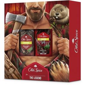 Old Spice Timber with Mint sprchový gel 250 ml + deodorant sprej 150 ml, kosmetická sada pro muže