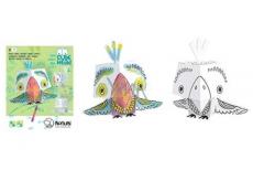 Monumi 3D Papoušek k vymalování +/- 20 cm, 5+
