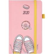 Albi Diář 2020 kapesní s gumičkou Tenisky 15 x 9,5 x 1,3 cm