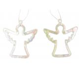Anděl plastový závěsný 6 cm 2 kusy