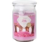 Emocio Pink Alley - Růžová alej vonná svíčka sklo se skleněným víčkem 93 x 142 mm