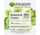 Garnier Skin Naturals Botanical Cream s výtažky z hroznů 24h hydratační denní krém normální a smíšená pleť 50 ml