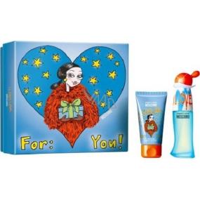 Moschino I Love Love toaletní voda pro ženy 30 ml + tělové mléko 50 ml, dárková sada 2015