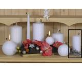 Lima Alfa Mrazivý efekt svíčka bílá válec 60 x 120 mm 1 kus