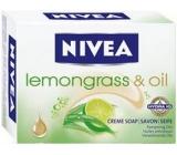 Nivea Lemongrass & Oil krémové toaletní mýdlo 100 g