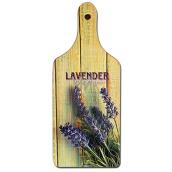 Bohemia Gifts & Cosmetics Dekorativní prkénko Lavender Provence s originálním potiskem 28 x 12 cm