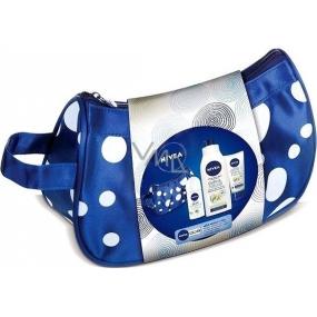 Nivea Pure Natur Jasmín kuličkový deodorant 50 ml + ochranný krém na ruce 100 ml + výživné tělové mléko 400 ml + kosmetická taštička,pro ženy kosmetická sada