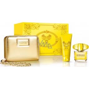 Versace Yellow Diamond toaletní voda 90 ml + tělové mléko 100 ml + zlatá kabelka, dárková sada