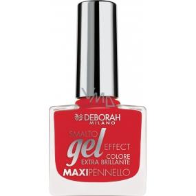 Deborah Milano Gel Effect Nail Enamel gelový lak na nehty 33 Red 11 ml