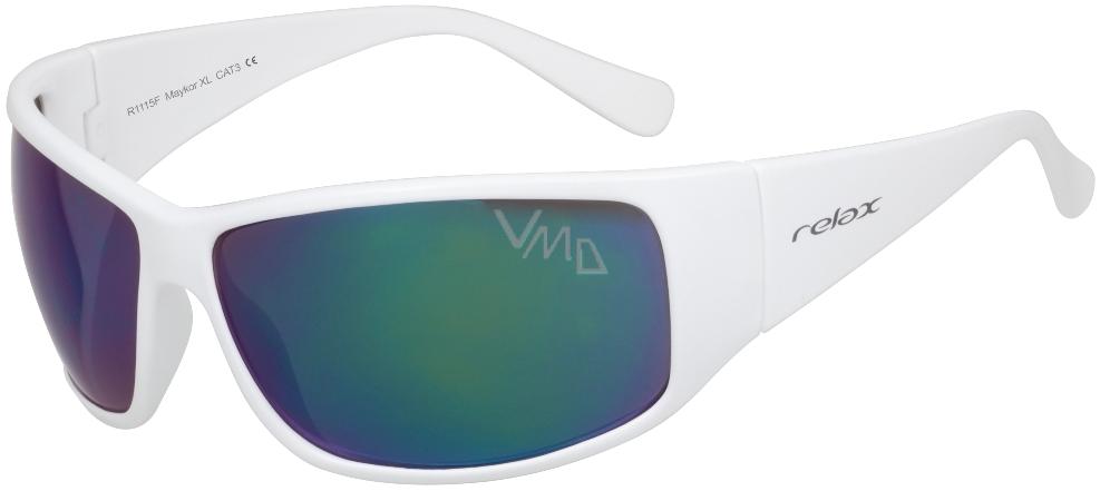 2275e046d Relax Maykor XL Sluneční brýle R1115F bílé - VMD drogerie