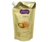 Luksja Creamy Honey & Oat Milk tekuté mýdlo náhradní náplň 400 ml