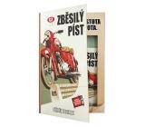 Bohemia Gifts Retro motorka sprchový gel 200 ml + šampon 200 ml s příjemnou pánskou vůní, kniha kosmetická sada
