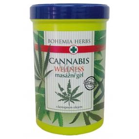Bohemia Gifts & Cosmetics Cannabis Konopný masážní gel s konopným olejem 380 ml