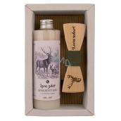 Bohemia Gifts Myslivec Olivový olej sprchový gel 250 ml + dřevěný motýlek, pro muže kosmetická sada