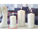 Lima Starligh svíčka bílá/stříbrná válec 50 x 100 mm 1 kus