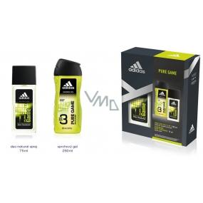 Adidas Pure Game parfémovaný deodorant sklo pro muže 75 ml + sprchový gel 250 ml, kosmetická sada