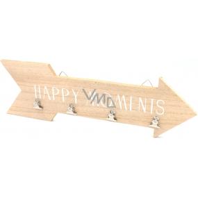 Nekupto Home Decor Dřevěná dekorační šipka Happy Moments 40 cm
