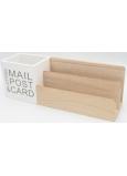 Nekupto Home Decor Dřevěný stojan Mail Post 29 x 10 x 8 cm