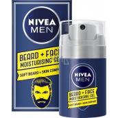 Nivea Men Beard + Face hydratační gel na tvář a vousy 100 ml
