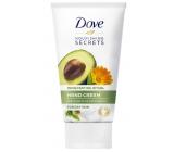 Dove Nourishing Secrets Povzbuzující Rituál Avokádový olej + extrakt z měsíčku lékařského krém na ruce pro suchou pokožku 75 ml