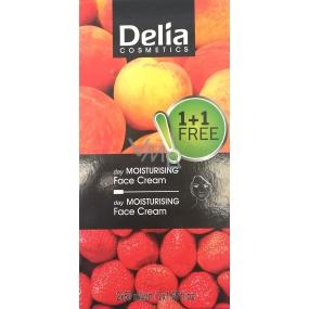 Delia Fruit Fantasy Duopack Meruňka hydratační denní krém pro suchou a normální pleť 50 ml + Krémová jahoda hydratační denní krém pro mastnou a smíšenou pleť 50 ml, kosmetická sada