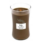WoodWick Amber & Incense - Ambra a kadidlo vonná svíčka s dřevěným knotem a víčkem sklo velká 609 g