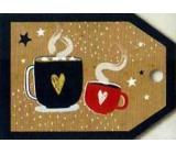 Nekupto Vánoční kartičky na dárky káva 5,5 x 7,5 cm 6 kusů