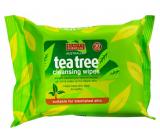 Beauty Formulas Tea tree čistící ubrousky na obličej 30 kusy