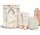Grace Cole Spa Luxe pěna do koupele 250 ml + tělové mléko 150 ml + sprchový gel 150 ml + mycí žínka + plechová dóza, kosmetická sada