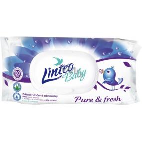 Linteo Baby Pure & Fresh vlhčené ubrousky pro děti 80 kusů