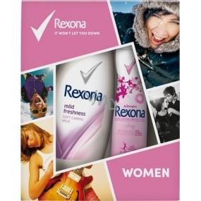Rexona Sexy antiperspirant deodorant sprej pro ženy 150 ml + Mild Freshness sprchový gel 250 ml, kosmetická sada