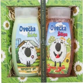 Bohemia Kids Ovečka Šárka sprchový gel 250 ml + Ovečka Štěpa šampon na vlasy 250 ml, kosmetická sada