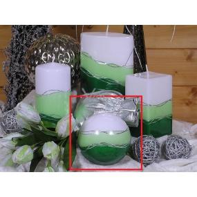 Lima Verona svíčka zelená koule 100 mm 1 kus