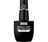 Astor Perfect Stay Gel Top Coat krycí lak na nehty 001 Transparent 12 ml