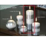 Lima Elegance White svíčka stříbrná válec 60 x 150 mm 1 kus