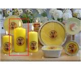 Lima Citronela svíčka proti komárům vonná repelentní žlutá válec 70 x 150 mm