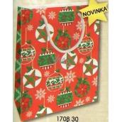 Nekupto Dárková papírová taška střední 23 x 18 x 10 cm Vánoční 1708 30 WBM