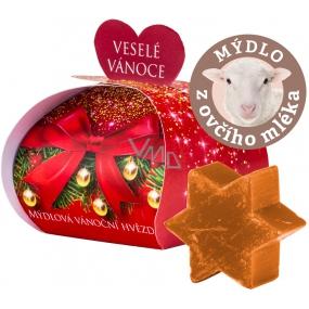 Moje Vánoční hvězda skořice dárkové mýdlo z ovčího mléka 13 g