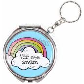 Albi Zrcátko - klíčenka s textem Věř svým snům 6,5 cm
