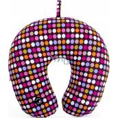 Albi Masážní cestovní polštář Barevné puntíky 30 x 28 x 10 cm