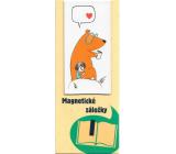 Albi Magnetická záložka do knížky Holčička s medvědem 8,7 x 4,4 cm