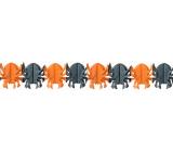 Girlanda Halloween pavouk oranžová, černá 400 x 17 cm