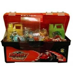Roary box na nářadí dětský koupelový set 2 kusy sprchového gelu 140ml, 4 kusy sprchového gelu 160ml, kufřík na nářadí.