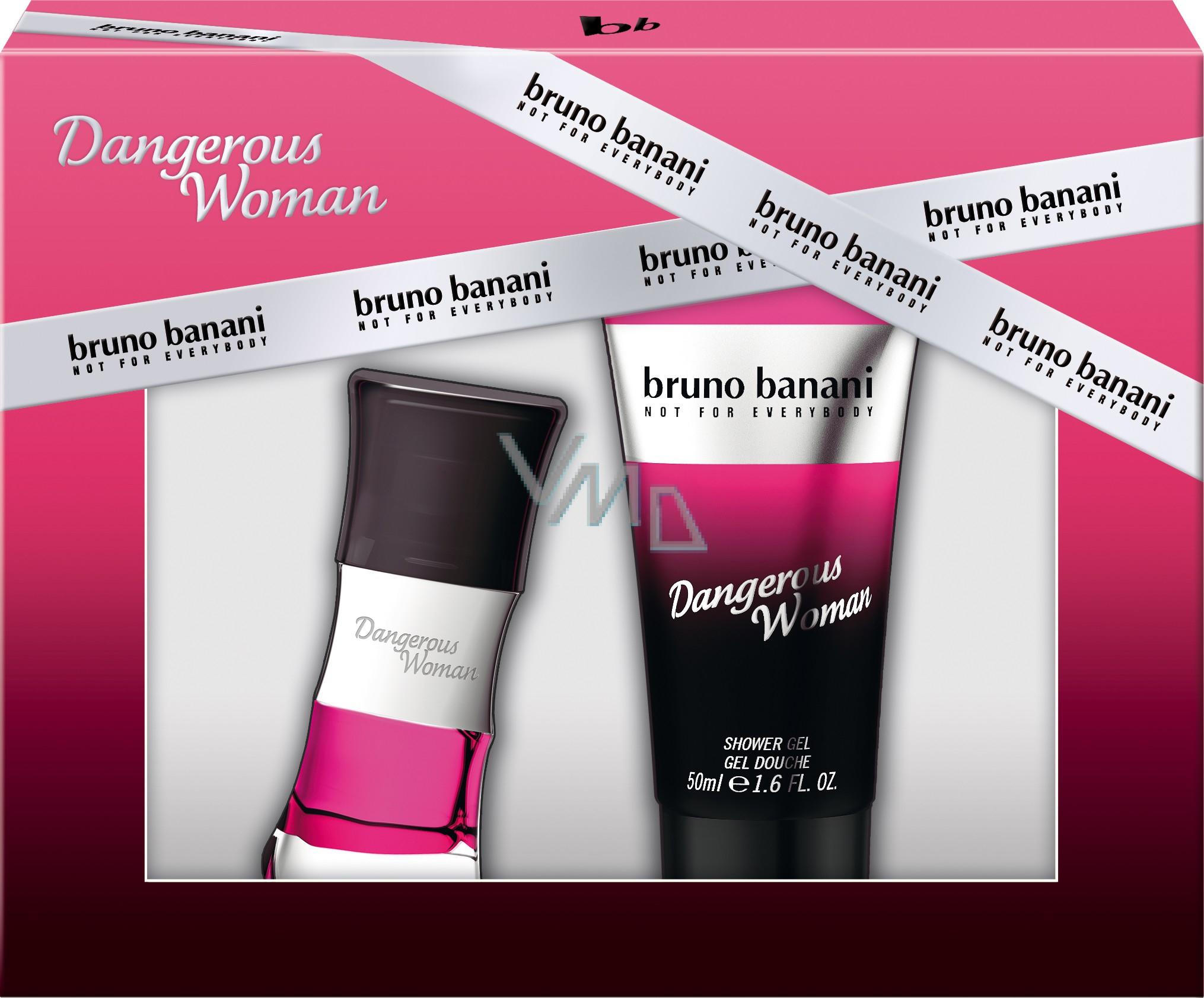 Bruno Banani Dangerous Woman toaletní voda 20 ml + sprchový gel 50 ml, dárková sada