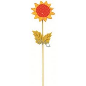 Zápich slunečnice na pružince oranžová 28 cm