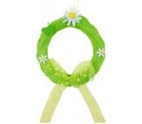 Věneček ze sisalu na zavěšení zelený 15 cm